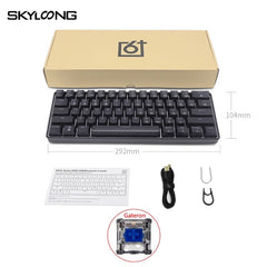 SKYLOONG GK61 SK61 Mechanical Gaming Keyboard 61 Keys Multi Color RGB Illuminated LED Backlit Wired Programmable For PC/Mac/Win