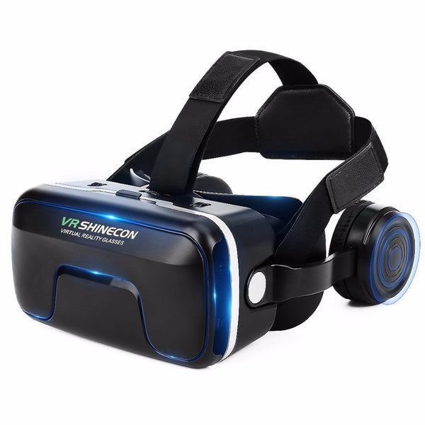Shinecon Upgraded Z4 VR Large Viewing Immersive Experience Vr box 3D Virtual Reality Glasses with Stereo Headphone with gamepad