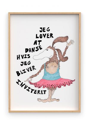 Load image into Gallery viewer, Lover dans - Indrammet plakat