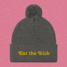 Load image into Gallery viewer, Eat the Rich Pom-Pom Beanie