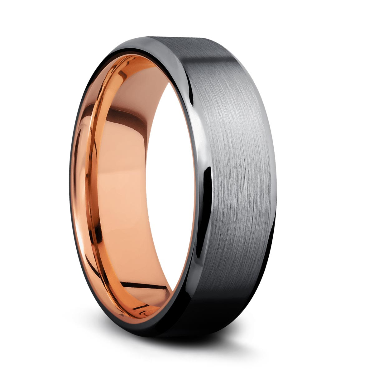 Tantalum Band with Rose Gold Sleeve