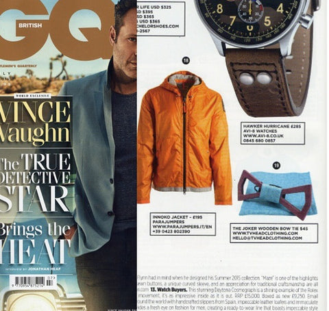Wooden bow tie gq featured july 2015 gq uk tv head company share this post ccuart Choice Image
