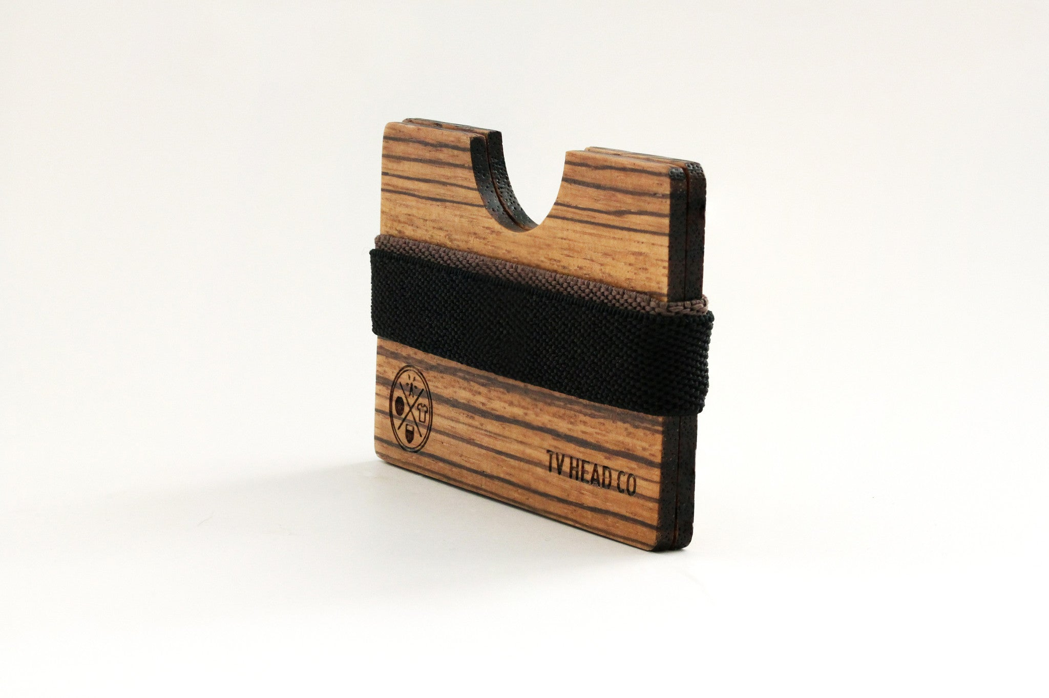 Wooden Wallet Zebra Card Holder