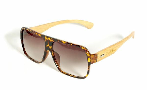 Bamboo Sunglasses with tortoise frame