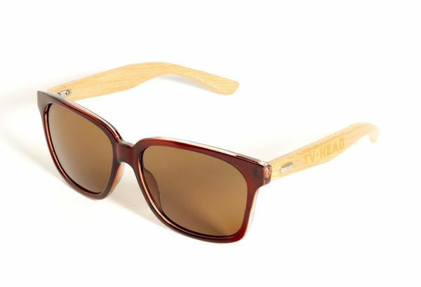 Sunglasses Wayfarer Light Brown Bamboo