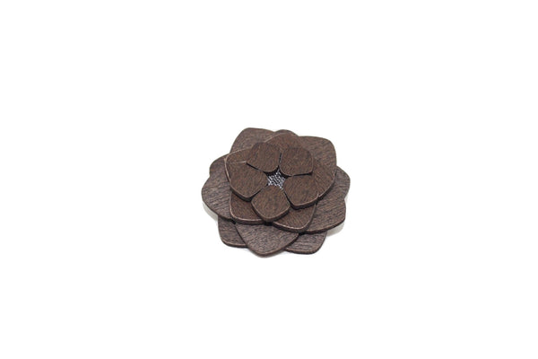 Birmingham Wooden Lapel Pin Flower