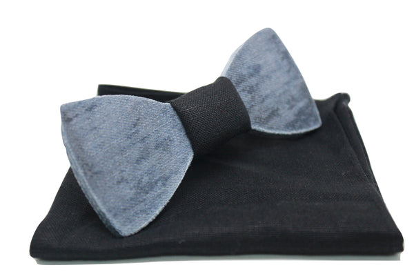 The Strauss Solid Denim Bow Tie
