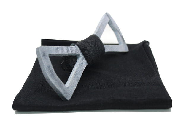 The Jacob Solid Denim Bow Tie