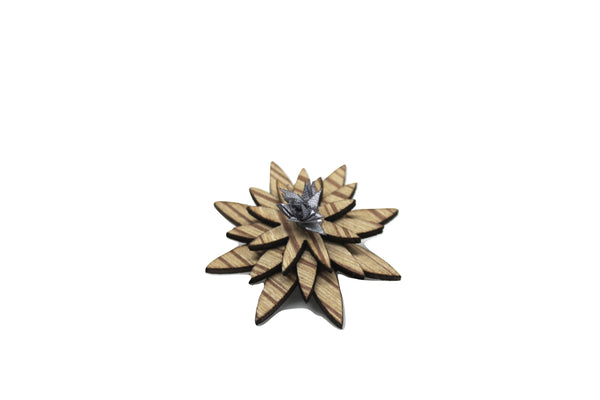 Little Havana Wooden Lapel Pin Flower