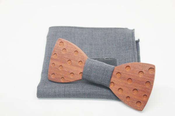The Scully Round Wooden Bow Tie