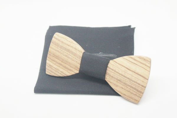 The Marty Round Wooden Bow Tie