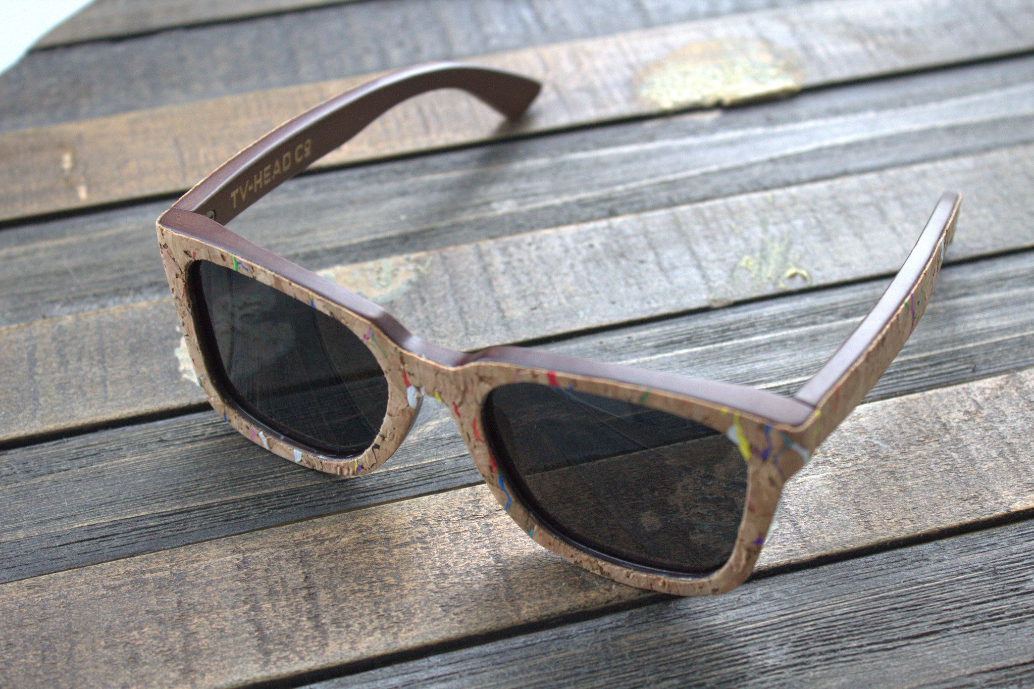 cork bamboo sunglasses polarized spring loaded