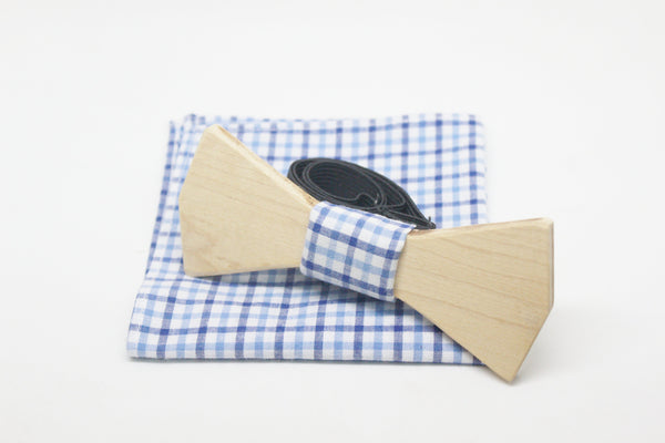The Marshall Diamond Wooden Bow Tie