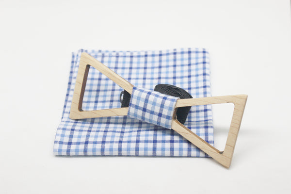The Marshall Hollow Triangular Wooden Bow Tie