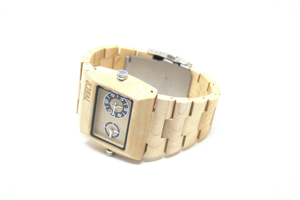 Wooden watch maple dual analog