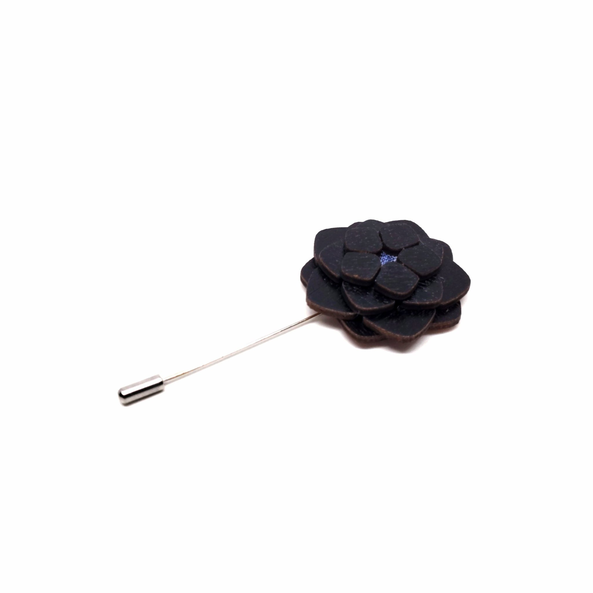 Fontainbleau Wooden Lapel Pin Flower