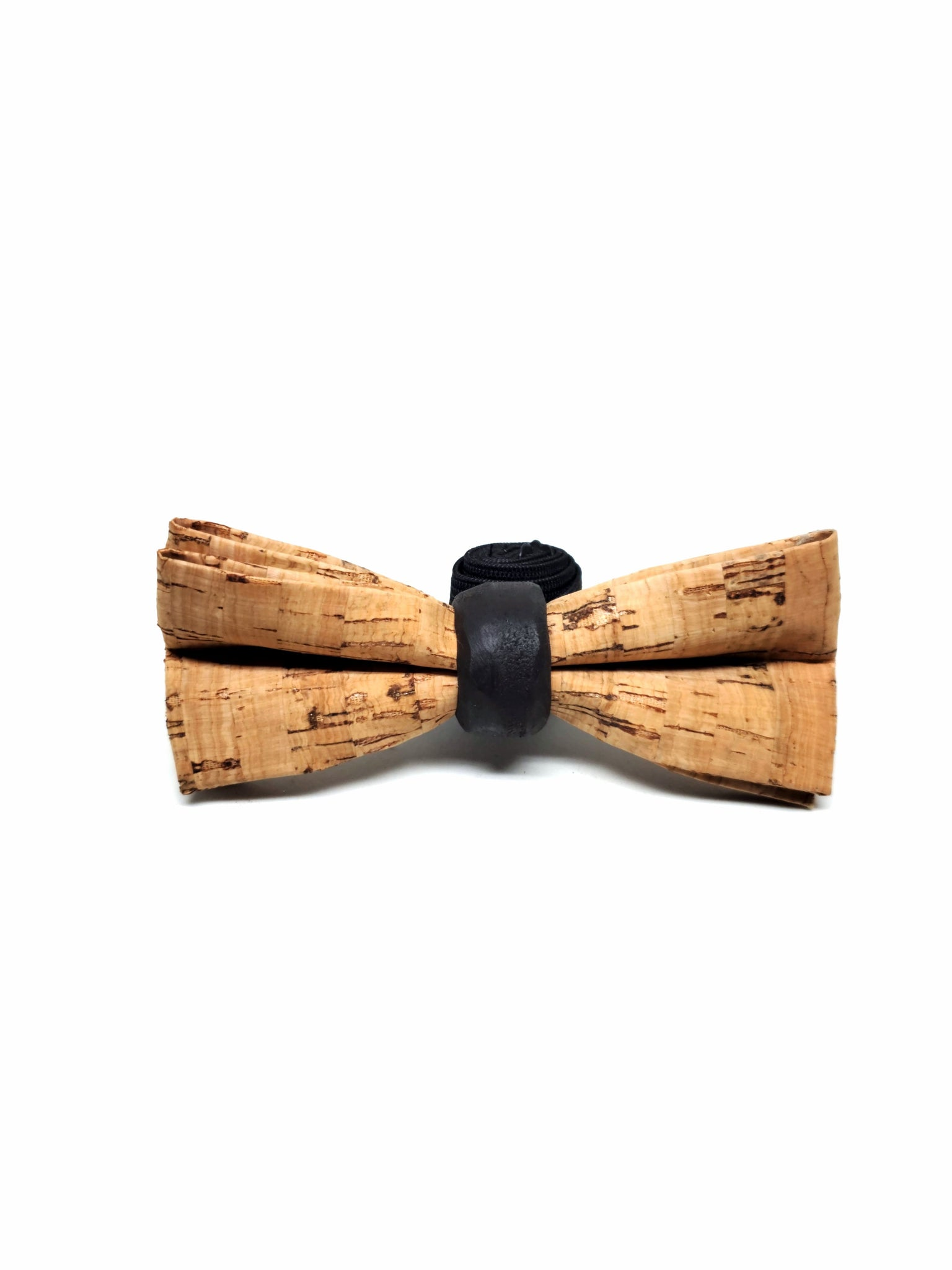 cork and wood bowtie