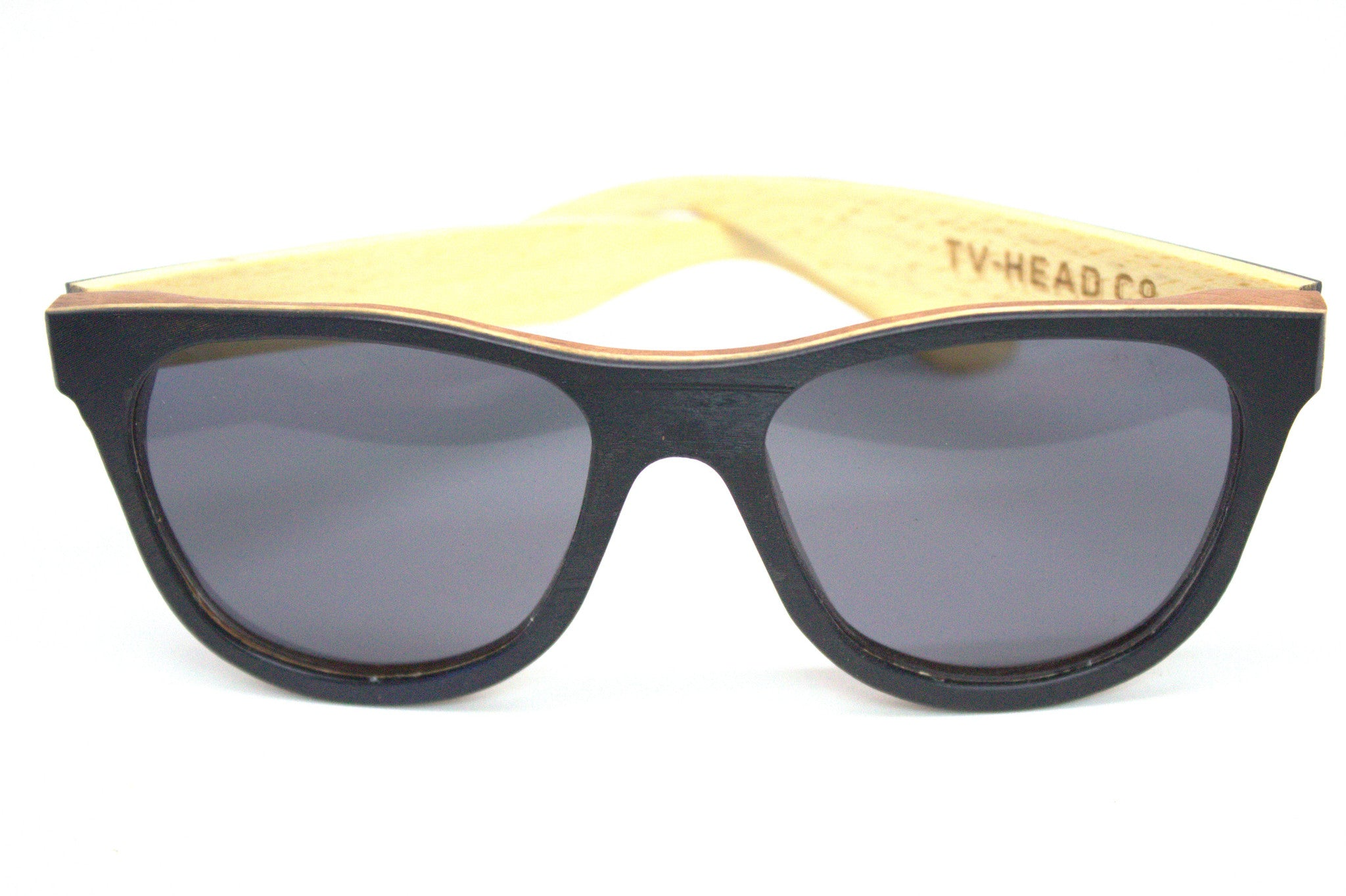 Sunglasses vinyl records wooden polarized spring loaded
