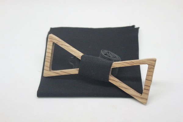 The Marty Triangular Hollow Wooden Bow Tie
