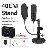 Condenser USB Microphone (With Optional Sound Card and Stand)