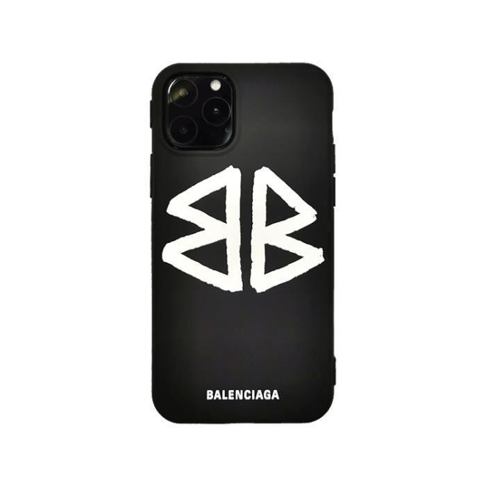 Coque iPhone 11 PRO MAXBalenciaga Logo Noir Antichoc Premium Coque  Compatible iPhone 11 PRO MAX