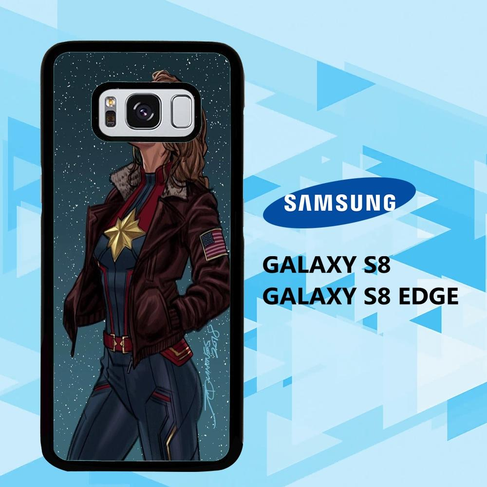 coque samsung galaxy S6 S7 S8 S9 S10 edge case K7412 wallpaper captain marvel 121sH1