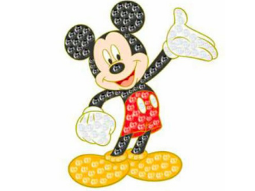 Pin's Dream Jeweled Mickey Mouse