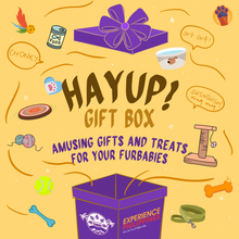 Load image into Gallery viewer, Hayup! Gift Box Amusing Gifts And Treats For Our Furbabies