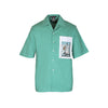 Handcrafted 'Basin' Safari shirt (Green)