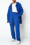 Cobalt HUEMN jeans with oversized patch pockets