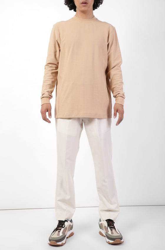 HUEMN Basics fitted mens T-shirt (Beige)
