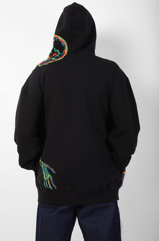 Handcrafted 'Thermocromatic Skeleton' hoodie