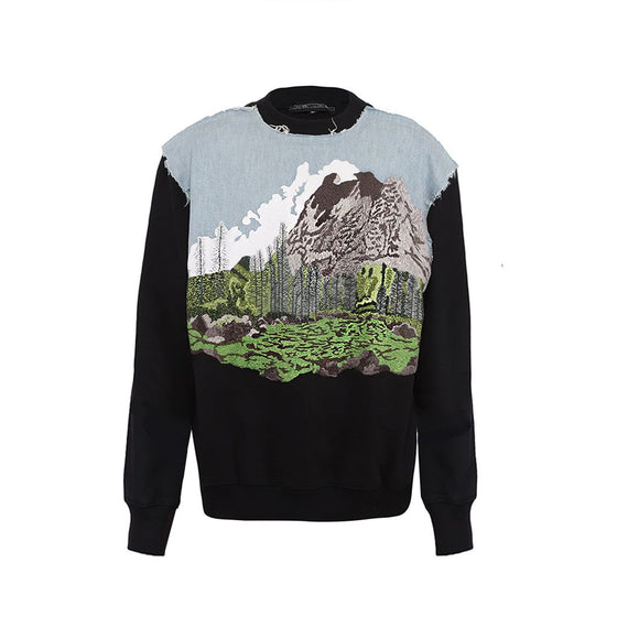 Handcrafted 'Mountains' sweatshirt