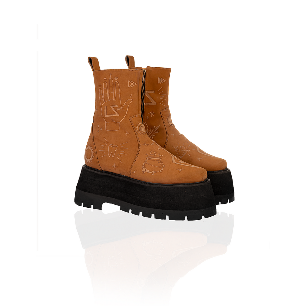 BRICK BROWN BOOTS (6128704159911)