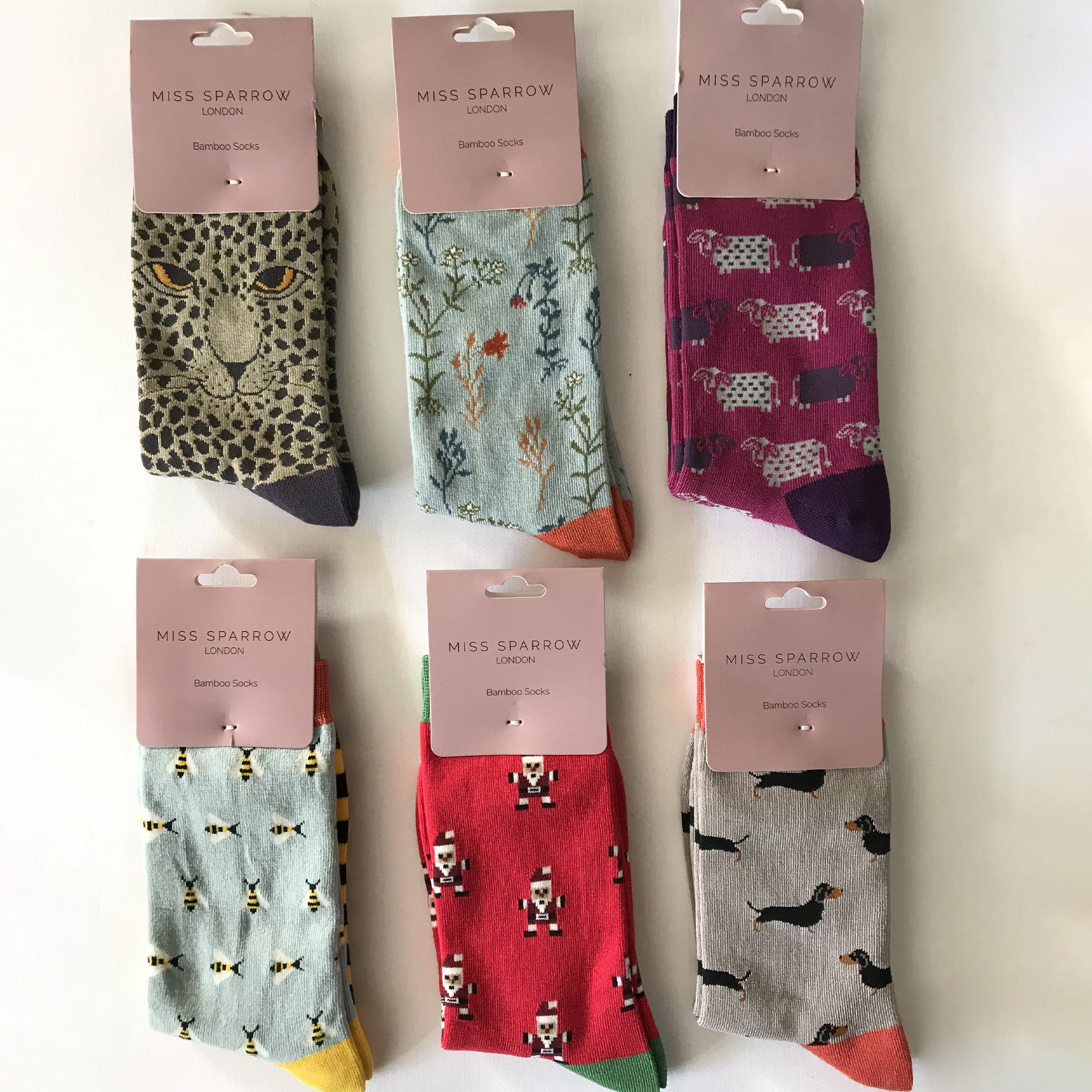 Conker Boutique Miss Sparrow ladies socks, selection of patterns