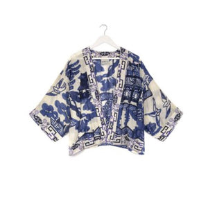 Conker Boutique One Hundred Stars Short Kimono Willow Blue
