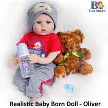 Load image into Gallery viewer, Realistic Baby Born Doll - Oliver