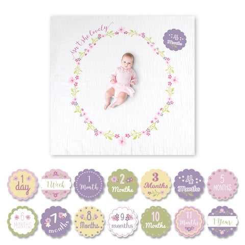 Lulujo Baby's First Year™ Meilenstein-Decke inkl. Karten Set | Isn't she lovely