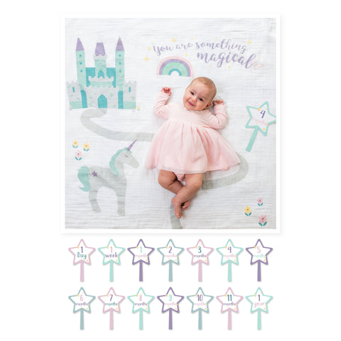 Lulujo Baby's First Year™ Meilenstein-Decke inkl. Karten Set | Something Magical