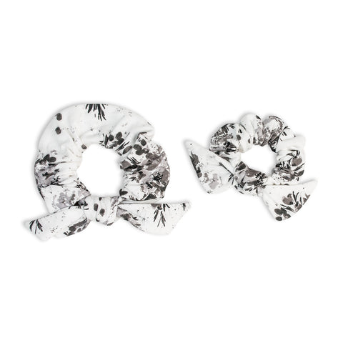 Scrunchie/Haargummi Mommy + Me - Black Floral