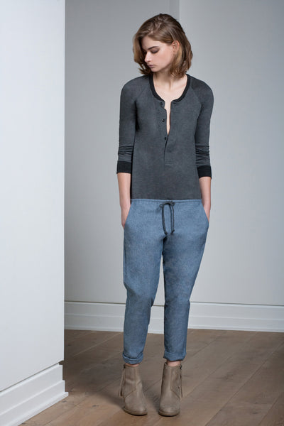The Arielle Jumper - Charcoal w/Chambray