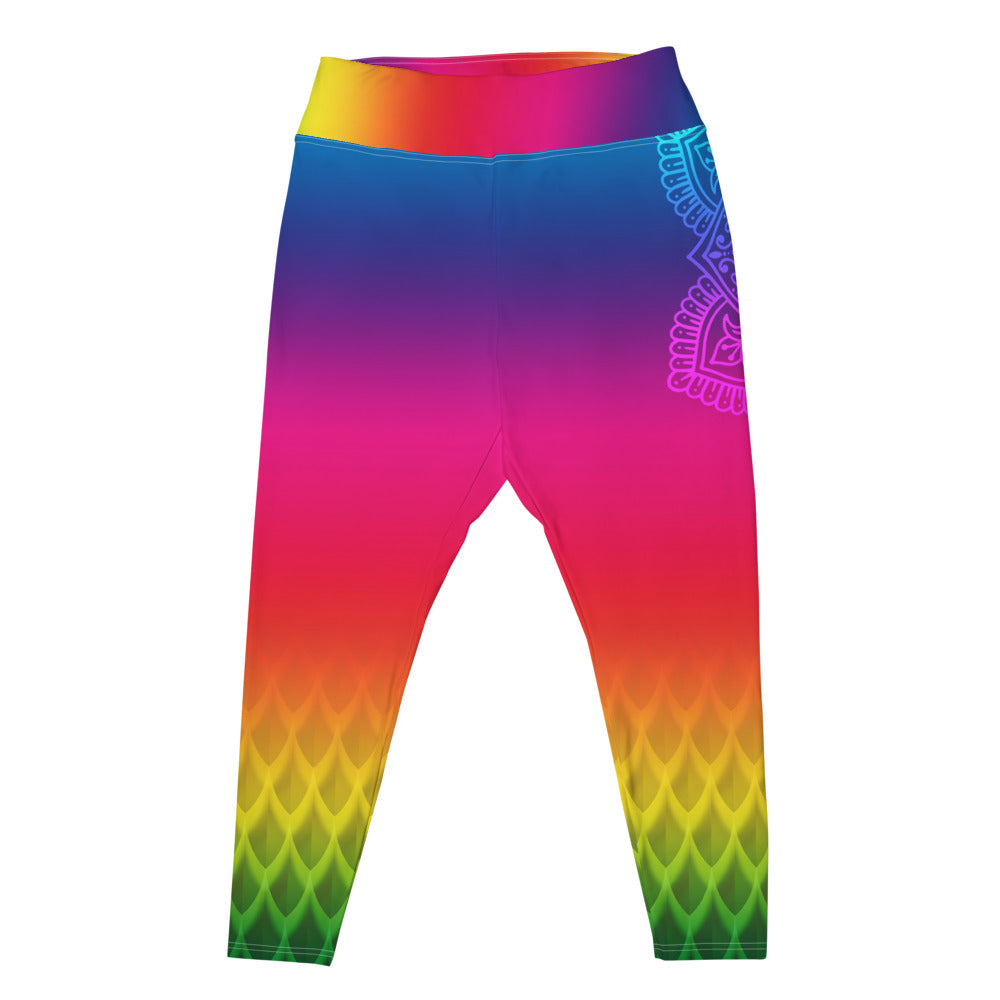 Rainbow Slayer Crown Chakra Curvy Leggings