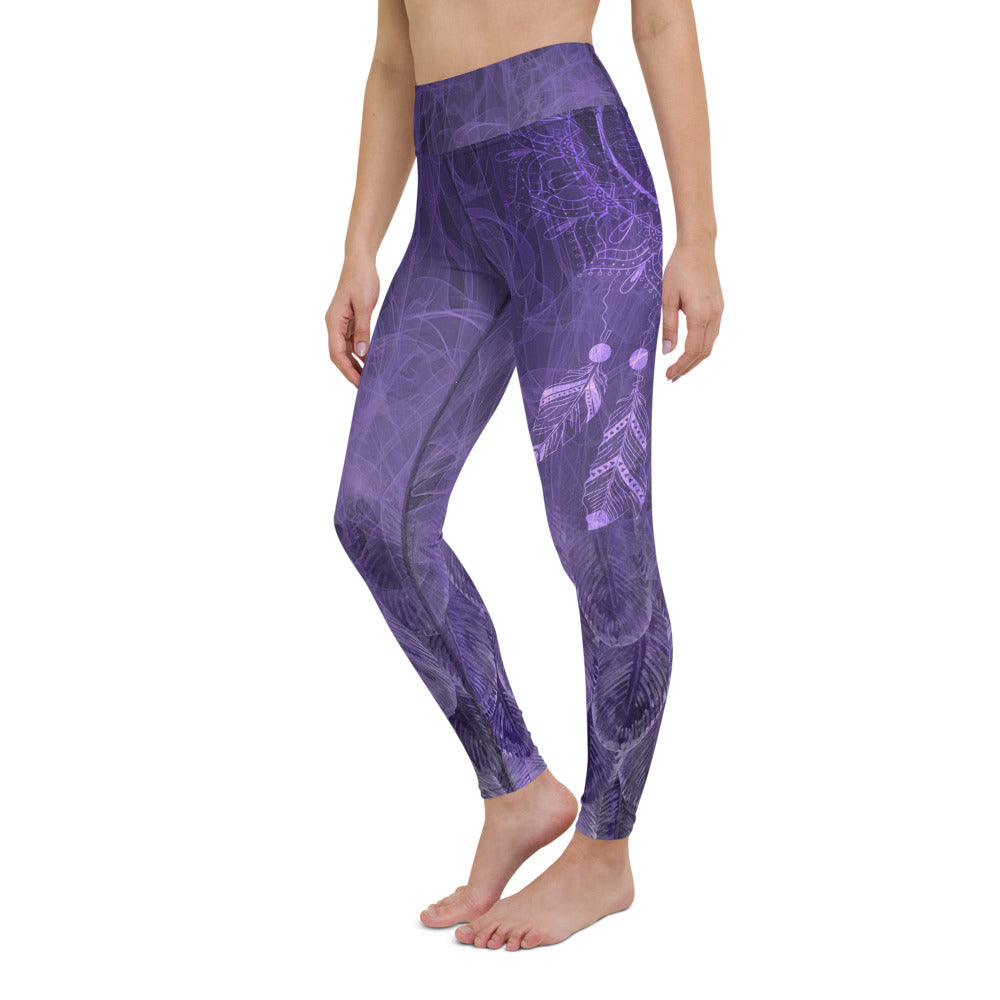 Fly By Night Third Eye Chakra Dreamcatcher Yoga Leggings