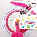 Ashley meisjesfiets 12 inch wit 85% afgemonteerd