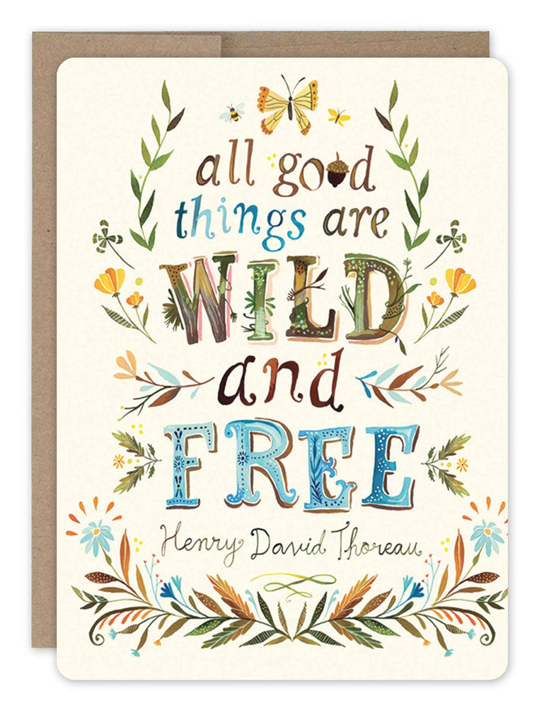 Biely & Shoaf | Wild and Free Card 100% Recycled Paper