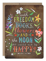Biely & Shoaf | Freedom Books Flowers Card FSC Certified Paper