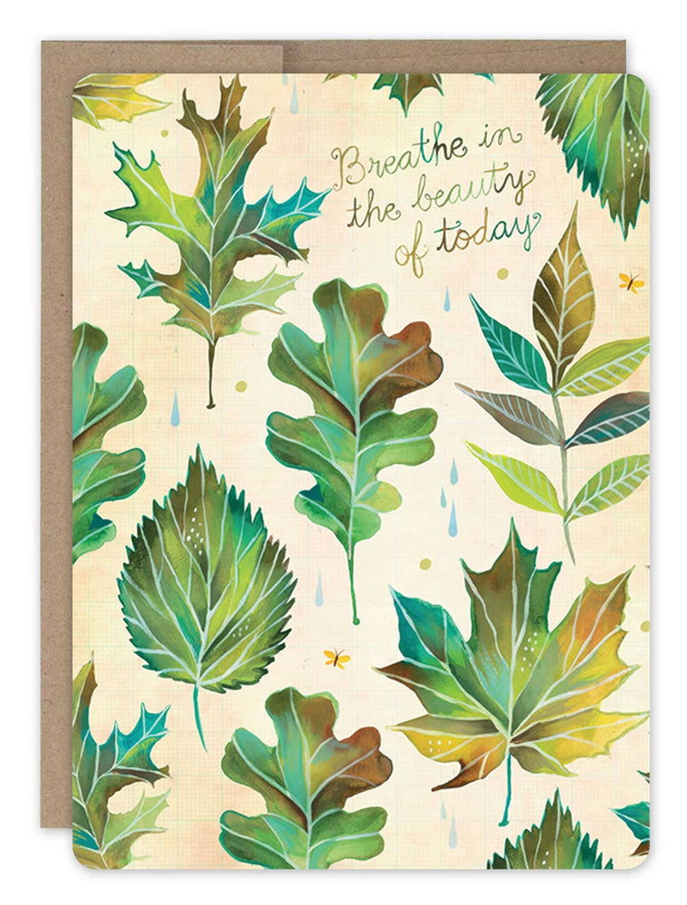 Biely & Shoaf | Botanical Leaves Card 100% Recycled Paper