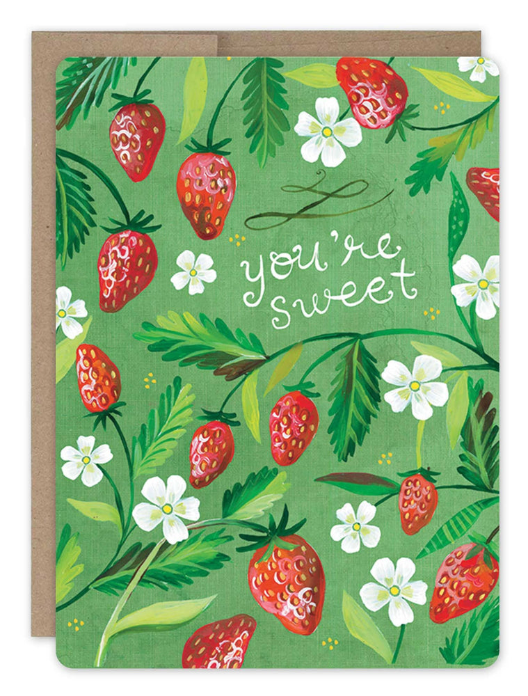 Biely & Shoaf | Strawberry Patch Card FSC Certified Paper