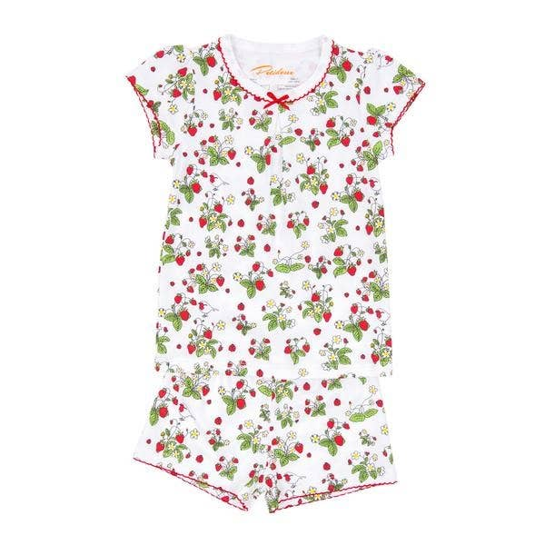 Petidoux | Fair Trade 100% Pima Cotton Strawberries Summer Pajamas
