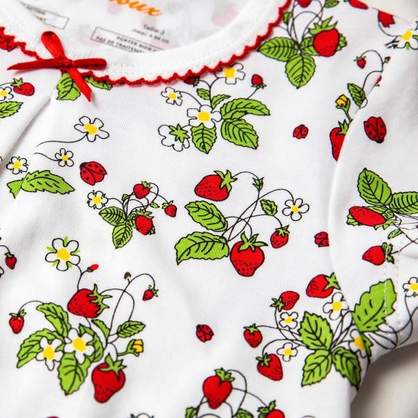 Load image into Gallery viewer, Petidoux | Fair Trade 100% Pima Cotton Strawberries Summer Pajamas